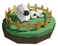 Low Poly Sheep  by Jaejene Kim