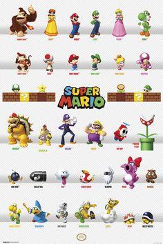 Super Mario Deluxe Castle Playset Champignon Uni 24 pcs Action Figures Poster
