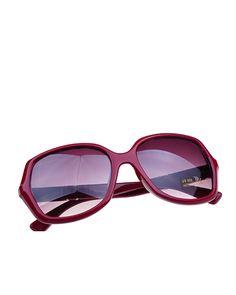 Fashion Burgundy Frame Oversized Sunglasses @yoyomelodydress