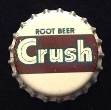CRUSH ROOT BEER soda bottle cap cork unused