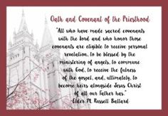 """April 2017 Visiting Teaching Handout """"Oath and Covenant of the Priesthood"""" - The Idea Door"""