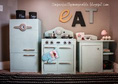 Imperfectly Imaginable : Pottery Barn Inspired retro kids kitchen. Finishing and plans