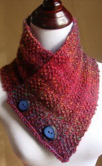 Free knitting pattern gorgeous colours. (pinned with permission) Boxes Full O' Seeds Neck Warmer | AllFreeKnitting.com