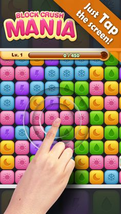Let's enjoy simple and fun block puzzle game!  You just need one finger to tap the screen! Touch more than 2 blocks with the same color! Remove the blocks as much as you can! Achieve target score before use all the blocks. https://itunes.apple.com/us/app/block-crush-mania/id897321812?mt=8 #Mania #Crush #ios