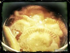 """This is a traditional Amish Potato Dumpling. The Amish name is Boovashenkel, which means """"Boys Legs"""" in Pennsylvania Dutch. This recipe is for making the Boovashenkel as a side dish wit… Fried Ham, Amish Recipes, Amish Country, Beef Broth, Dumplings, Pennsylvania Dutch, Mashed Potatoes, Side Dishes, Stuffed Peppers"""