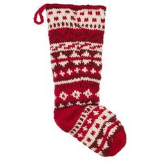 Knitted Fair Isle Stocking ... Where treasures and gifts are found on Christmas morning. #indigo #magicalholiday