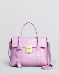 Salvatore Ferragamo Satchel - Sookie Mini | Bloomingdale's How could I not pin the purple sookie?  OMG put it on the need list! Gorgeous!