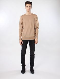 Icky Camel Knitted Sweater by Whyred A/W-15 - APLACE Fashion Store & Magazine