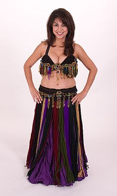 Earthy Yarn Bra & Belt; belly dance, tribal dance