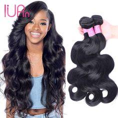 IUPin Brazilian Virgin Hair Unprocessed Human Hair 4Bundles Malaysian Indian Peruvian Cambodian Body Wave hair weaves Free Shipping