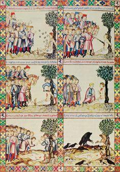 Cantigas de santa Maria, Cantiga 124, Espagne (Castille), vers 1260-1270. (Un homme survit à son exécution pour pouvoir se confesser auprès ...