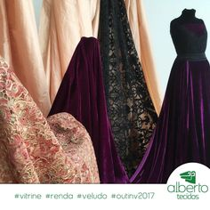 #albertotecidos #tecidos #cuiaba #festa #vestido #casamento #formatura #moda #tendencia #inspiracao #inspiration #velvet #veludo #spandex #vitrine