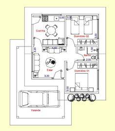 Casa pequena de 2 quartos e garagem $$$