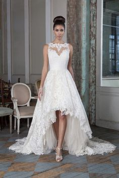 Justin Alexander dipped hem wedding dress #weddingdress