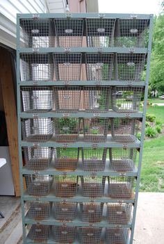 Large Vintage Industrial Locker Room Gym Shelf Shelves With 32 Baskets.what a DREAM! Man, I would love to have these in my craft room! Vintage Industrial, Industrial Lockers, Industrial Farmhouse, Industrial House, Modern Industrial, Industrial Furniture, Industrial Design, Vintage Lockers, Craft Storage