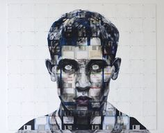Nick Gentry is a creative talented British artist from London.Check out 10 Most Creative Portraits Done With Floppy Disks By Nick Gentry Artwork Images, Cool Artwork, Illustrations, Illustration Art, Pablo Picasso Artwork, Richard Hamilton, St Martin, Floppy Disk, Social Art