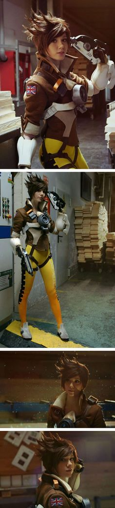 Anime Cosplay This Tracer cosplay by Hoteshi is almost perfect. Super Hero shirts, Gadgets - More memes, funny videos and pics on Cosplay Anime, Epic Cosplay, Amazing Cosplay, Cosplay Girls, Kawaii Cosplay, Cosplay Outfits, Tracer Cosplay, Armadura Cosplay, Overwatch Tracer