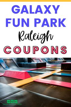 Promo code, coupon, discounted jumps at Galaxy Fun Park in Raleigh, NC, an indoor entertainment complex bringing fun to families in Raleigh, Chapel Hill, Durham, Cary, etc. Has laser tag, trampoline park, mini-golf, bumper cars, go-karting, Soft Play, VR, Ropes Course, etc. #Raleigh #GalaxyFunPark #NC #NorthCarolina #Triangle #ResearchTriangle #TriangleArea #ChapelHill #Durham #Cary #WakeForest #familyfun #bumpercars #gokarting #lasertag #gokart #Morrisville #funwithkids #funwithteens… Vacation Deals, Vacation Spots, Free Things To Do, Things That Bounce, Research Triangle, Ropes Course, Think Fast, Trampoline Park, Soft Play