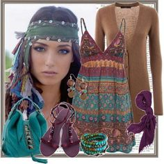 ☮ American Hippie Bohéme Boho Style ☮ Outfit