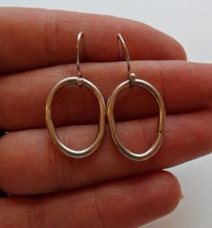 Sterling Silver Dangle Earrings by onetime on Etsy, $6.25