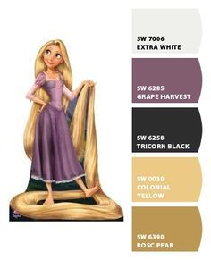 Rapunzel Disneybound Color Palette in 2019   Disney ...