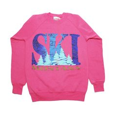 Vintage 1980s Montana Ski Puff Paint Glitter by NeonAeonNYC, $17.00