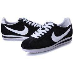 http://www.asneakers4u.com/ Anti-Fur Black White Women Nike Classic Cortez