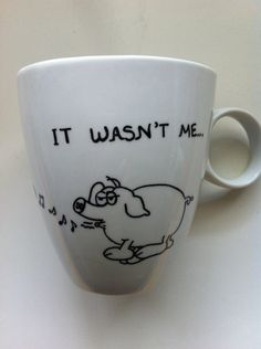 Funny Pig  Elephant Mug by litsakiv on Etsy, $18.00 Elephant Mugs, Biggest Elephant, Funny Pigs, Little Pigs, Quote, Deco, Unique Jewelry, Tableware, Handmade Gifts