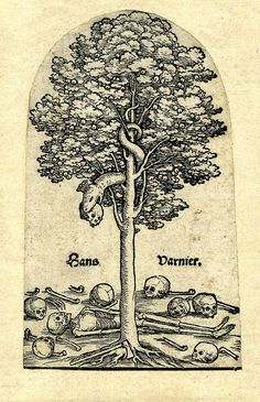 "innercurtain: "" Hans Varnier the Elder; the Tree of Knowledge with the serpent. """