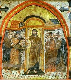 Foto # 4069-6208, Incredulità di San Tommaso, icona copta, l'influenza bizantina, 14 ° secolo