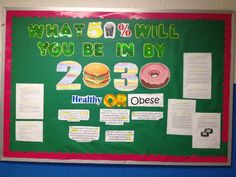 What 50% will you be in by 2030, healthy or obese? great bulletin board