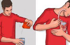Si eructas dentro de los 5 minutos al beber agua con bicarbonato de sodio, Esto es lo que significa