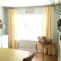 Premier Prints Jojo in Corn Yellow (and other prints) curtains available here....https://www.etsy.com/listing/219581778/custom-curtains-custom-draperies-one?ref=shop_home_active_18