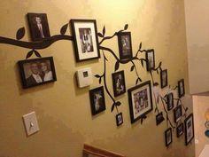 treppe-familie baum aufkleber baum wand aufkleber von simpleshapes ... - Treppen Wand Gestalten