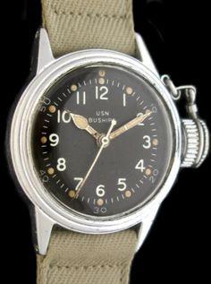 """Une Hamilton """"frogman"""" de l'armée américaine. On se doute alors vaguement que la couronne représente un point faible pour l'étanchéité de la montre. Crédit: Gianluca Bocci."""
