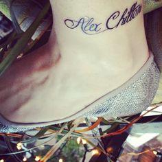 Alex Chilton tattoo on my left ankle