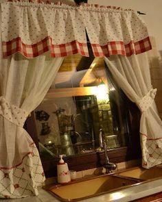 Tenda Romantic Country Con Cuori Realizzati