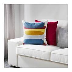 IKEA - MALIN FIGUR, Kuddfodral, Kuddöverdraget är gjort av ramie, ett tåligt naturmaterial med en något ojämn struktur.Dragkedjan gör fodralet enkelt att ta av.