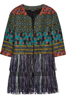 Finds + Oui Odile Louise raffia-trimmed woven coat | NET-A-PORTER