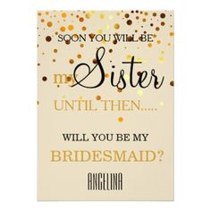 #Will you be my bridesmaid? card - will you be my bridesmaid invitations #bridesmaid #weddinginvitations #wedding #invitations #party #card #cards #invitation