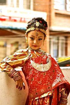 Newari girl - Kathmandu, Nepal.