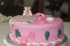Pink and teal baby shower By MrsFoltz on CakeCentral.com