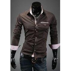 Men's Formal Two Colour Dress shirts - Collection 2 Formal Shirts, Casual Shirts, Men's Shirts, T Shirt Vest, Shirt Dress, Man Dressing Style, Camisa Formal, Slim Fit Dresses, Men Formal