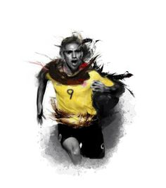 Radamel Falcao by Sebastian Hincapie, via Behance. #yellow #soccer #football #sport #player #soccerplayer #footballplayer