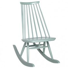 For Sale on - Mademoiselle rocking chair in Sage by Ilmari Tapiovaara & Artek. The Mademoiselle rocking chair is made from solid birch and was specifically developed Nordic Design, Modern Design, Wooden Rocking Chairs, Scandinavia Design, Chair Types, Scandinavian Living, Cafe Chairs, Design Moderne, Shops