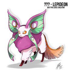 Lepideon the bug Type Eeveelution by TamarinFrog on DeviantArt