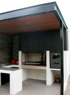 Barbecue Patio Ideas – With the weekend drawing to a close and summer just on the way, getting a barbecue station running might be an idea on the top of your mind. Patio Roof, Pergola Patio, Pergola Plans, Backyard Patio, Pergola Kits, Covered Back Patio, Covered Pergola, Parrilla Exterior, Barbecue Design