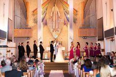 Natalie + Adam's wedding || Donna Morgan bridesmaids || Berry Bouquet bridesmaid dresses || #bridesmaiddresses #bridesmaids