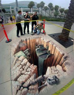 I am really in to this 3D street art.