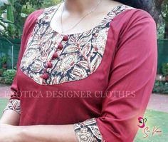 How to make different types of kurthi patterns Kurtis have become a very integral outfit it Indian fashion industry. From parties to casual wear for your w Chudithar Neck Designs, Chudidhar Designs, Neck Designs For Suits, Neckline Designs, Fancy Blouse Designs, Blouse Neck Designs, Designs For Dresses, Silk Kurti Designs, Salwar Neck Designs